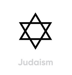 judaism religion icon editable line vector image
