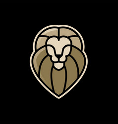 Lion e sport logo icon vector