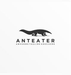 Logo anteater silhouette vector