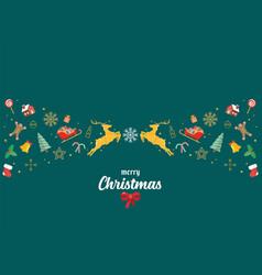 merry christmas glass ball with santa sleigh vector image