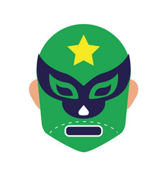Mexican mask fighter fill style icon vector