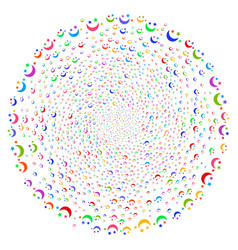 moon stars twirl cluster vector image
