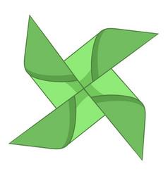 Origami mill icon cartoon style vector