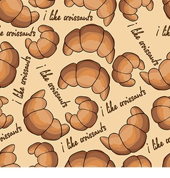 Pattern with croissants vector