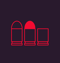 Pistol bullets vector