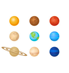 plantes of solar system icon set vector image