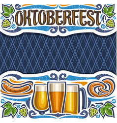 poster for oktoberfest vector image