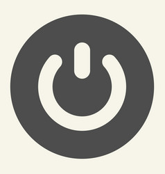 Power button solid icon switch vector