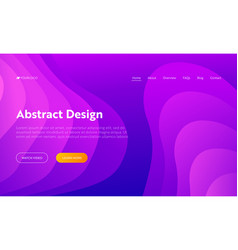 purple abstract wave shape landing page vector image