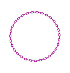 Purple chain in shape of circle vector