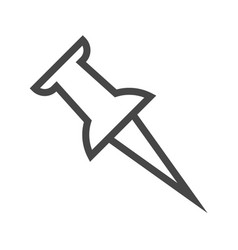 push pin thin line icon vector image
