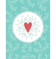 Romantic vintage card vector image