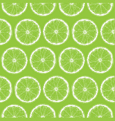 seamless pattern with lime slices vector image