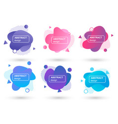 set abstract liquid shapes modern graphic vector image