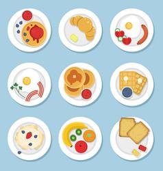set healthy food for breakfast vector image