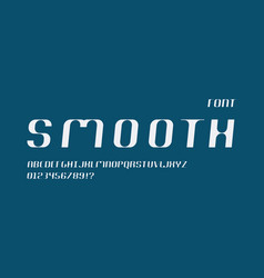 Smooth cursive font alphabet vector