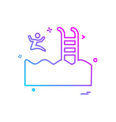 swimming icon design vector image