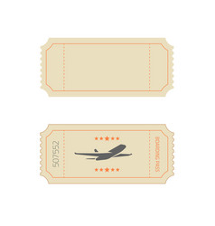 ticket template in vintage old retro style vector image