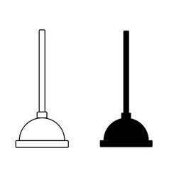 toilet plunger bathroom equipment icon vector image