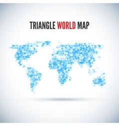 Triangle Map abstract isolated on a white vector image