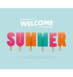 Welcome summer vector