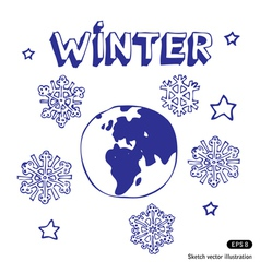Winter Earth vector image