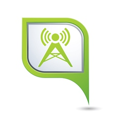 wireless map pointer vector image