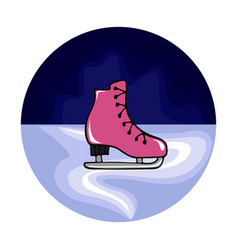 with hand-drawn figured skates vector image