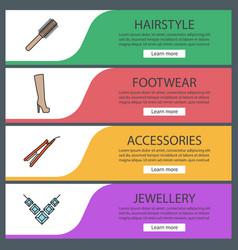 Womens accessories banner templates set vector