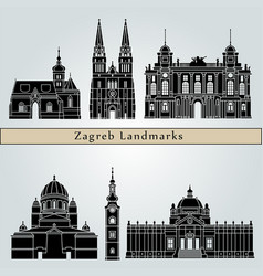 zagreb landmarks vector image