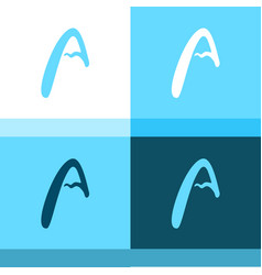 alpine mountain in the form of a letter a vector image