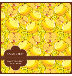 Card with apples vector image vector image