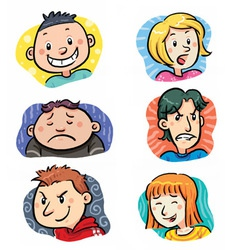 People Expressions vector image vector image