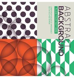 polka dot geometric seamless pattern background vector image