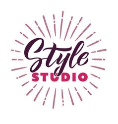 style studio logo beauty lettering custom vector image vector image