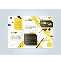 Trifold Business Brochure Design Template vector image vector image