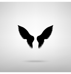 Wings sign vector image