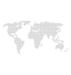 World map grid vector image