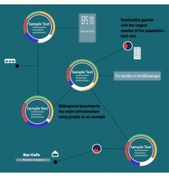 Circular infographics vector image