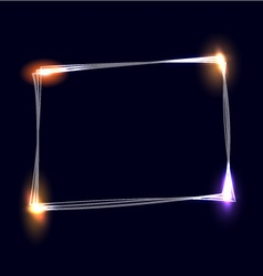 Sketchy frame with light effects vector image
