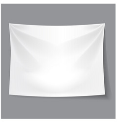 white blank fabric background banner vector image vector image