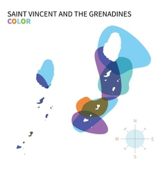 Abstract color map of Saint Vincent and the vector image vector image