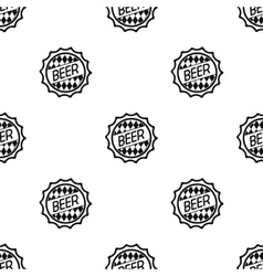 Bottle cap icon in black style isolated on white vector image vector image