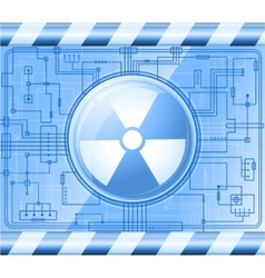 button radiation vector image vector image