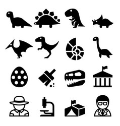 dinosaur excavation icon vector image