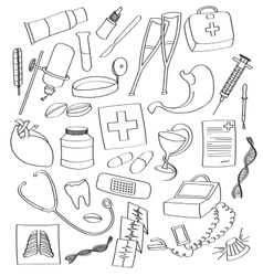 Doodle Medical vector image