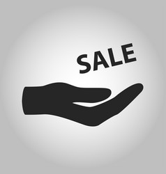 icon hand holding sale isolated vector image
