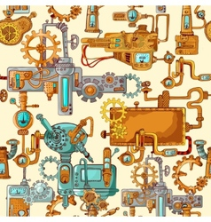 Industrial Machines Seamless vector image