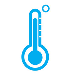 thermometer icon on white background vector image vector image