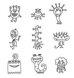 cartoon aliens vector image